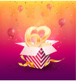 62nd years anniversary design element vector image vector image