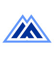 abstract mountain letter m logo icon vector image vector image