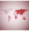 abstract red mosaic world map vector image