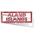 Aland Islands outlined stamp vector image