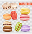 almond cookies transparent set vector image