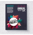 Annual Report design template for Mining vector image