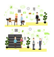 banking concept in flat style vector image vector image