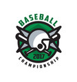 baseball championship 2017 logo design element in vector image vector image