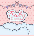 bashower bunting clouds decoration vector image