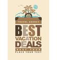 best vacation deals vector image vector image