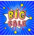 big sale pop art banner vector image