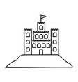 black silhouette with sand castle vector image