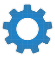 Blueprint Gear Icon vector image