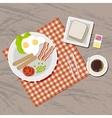 Breakfast set Top view vector image vector image