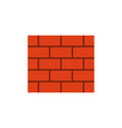 brick wall flat icon vector image vector image
