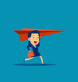 business woman and paper airplane concept vector image