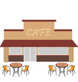 Cafe with summer terrace vector image