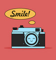 camera character for web card vector image