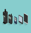 cell phone evolution vector image vector image