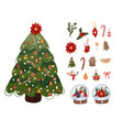 christmas tree with options for decorations vector image
