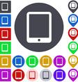 Color tablet icon set vector image vector image