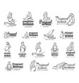concept of pregnant yoga icon vector image