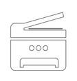 copy machine multifunction printer icon design vector image