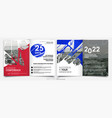 covers templates set with bauhaus style graphic vector image