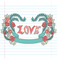 decorative love banner vector image