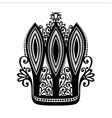 Decorative Ornate Crown vector image