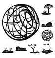 design travelling and environment logo vector image vector image