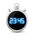 digital stopwatch with blue numerals isolated on vector image vector image