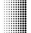 dotted pattern vertically seamless dots halftone vector image