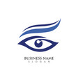 eye care logo design vector image
