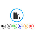 falling acceleration bar chart rounded icon vector image vector image