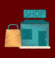 flat icon in shading style shop package vector image vector image