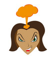 flat icon on theme evil women vector image