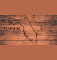 florida map brand vector image vector image