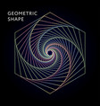 geometric shape graphic gradient vector image
