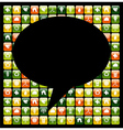 Global mobile phone green apps icons bubble vector image vector image