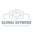 global network logo simple gray style vector image vector image