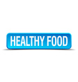 healthy food blue 3d realistic square isolated vector image vector image
