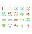 herd immunity icon set vector image