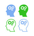 human heads with gears vector image