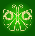 icon moth butterfly vector image