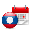 Icon of national day in laos vector image vector image