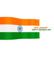 indian flag for happy republic day vector image