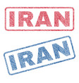 iran textile stamps vector image vector image