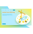 isometric ico concept web banner vector image vector image