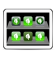 Leaf green app icons vector image vector image