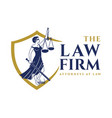 logo design for lawyers vector image vector image