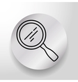 Magnifying glass searching vector image vector image