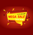 mega sale discount colorful banner for your vector image vector image