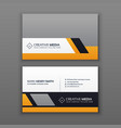 modern business card design with yellow and gray vector image vector image
